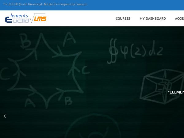 Screenshot of EUCLID LMS home page