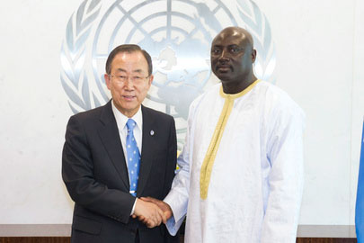 Mamadou Tangara with Ban Ki Moon